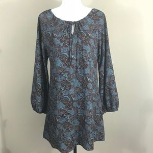 {ALTAR'D STATE} Blue Paisley Dress   S   EUC